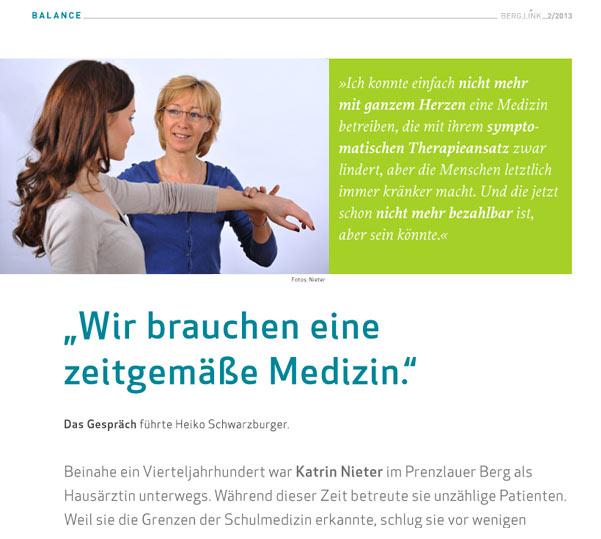 Praxis Dr. Kathrin Nieter - berglink Interview